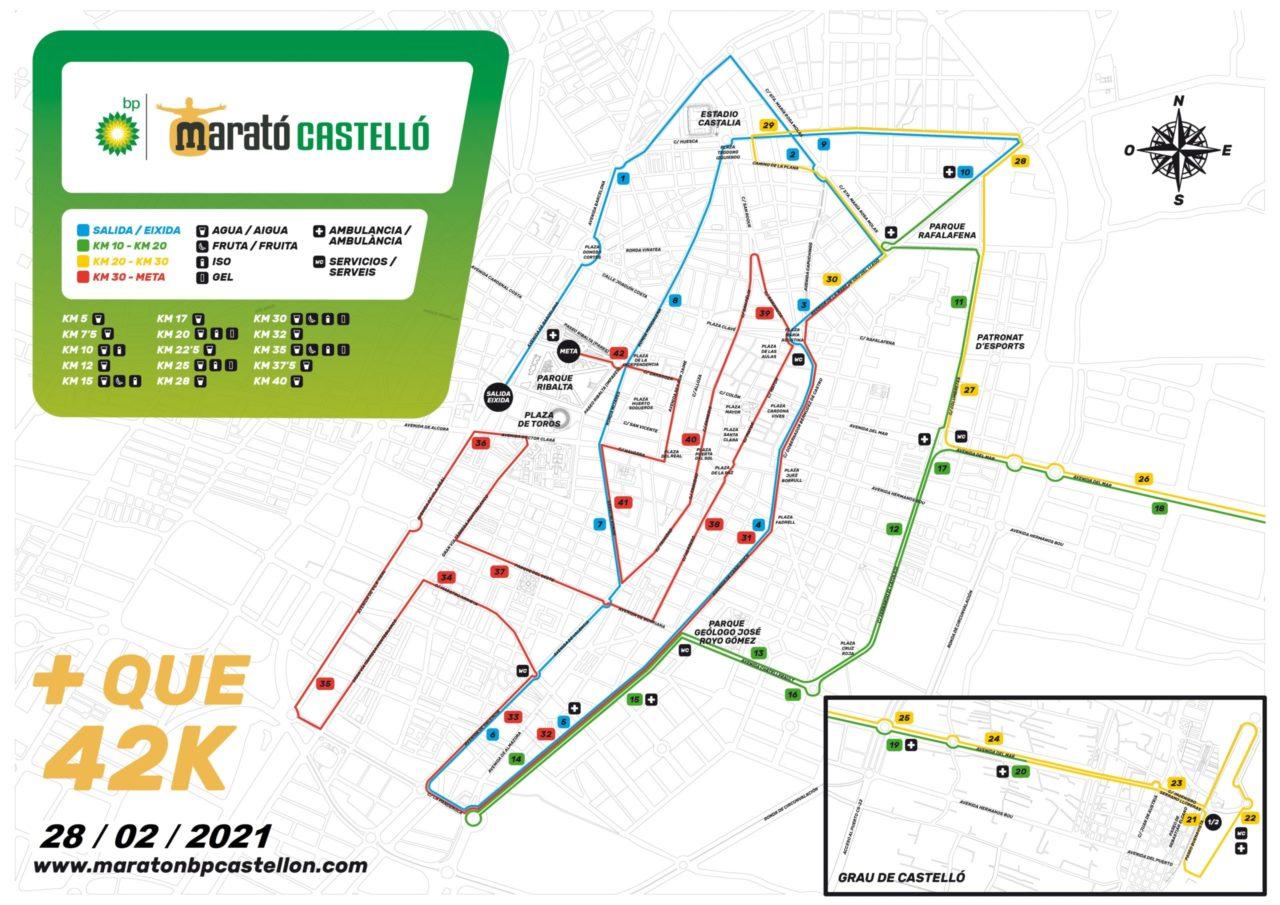 Recorrido Maratón BP de Castellón